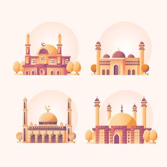Мечеть набор иллюстрации