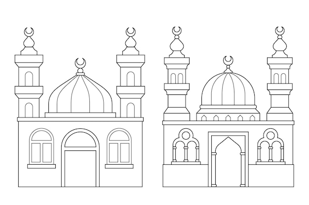 Mosques coloring page activity