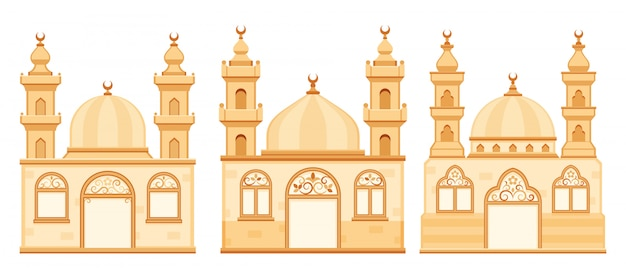 Mosques  isolated cartoon illustration