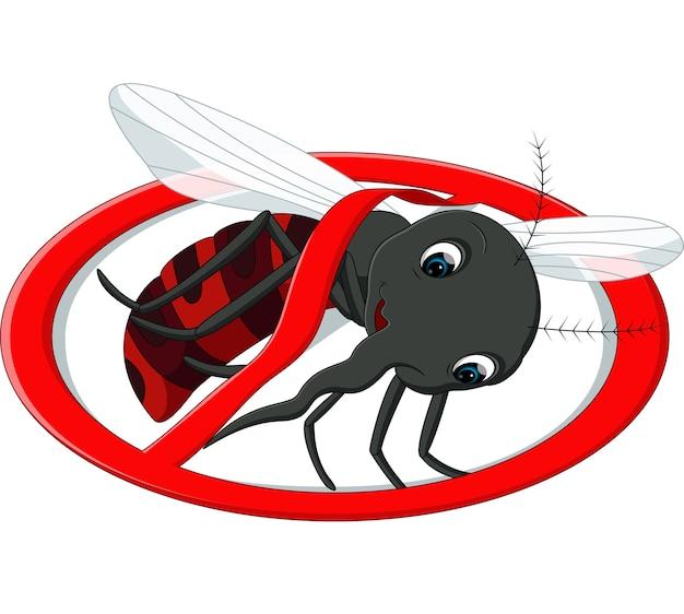 Mosquito cartoon Premium Vector