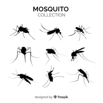 Mosquito silhouette pack of nine