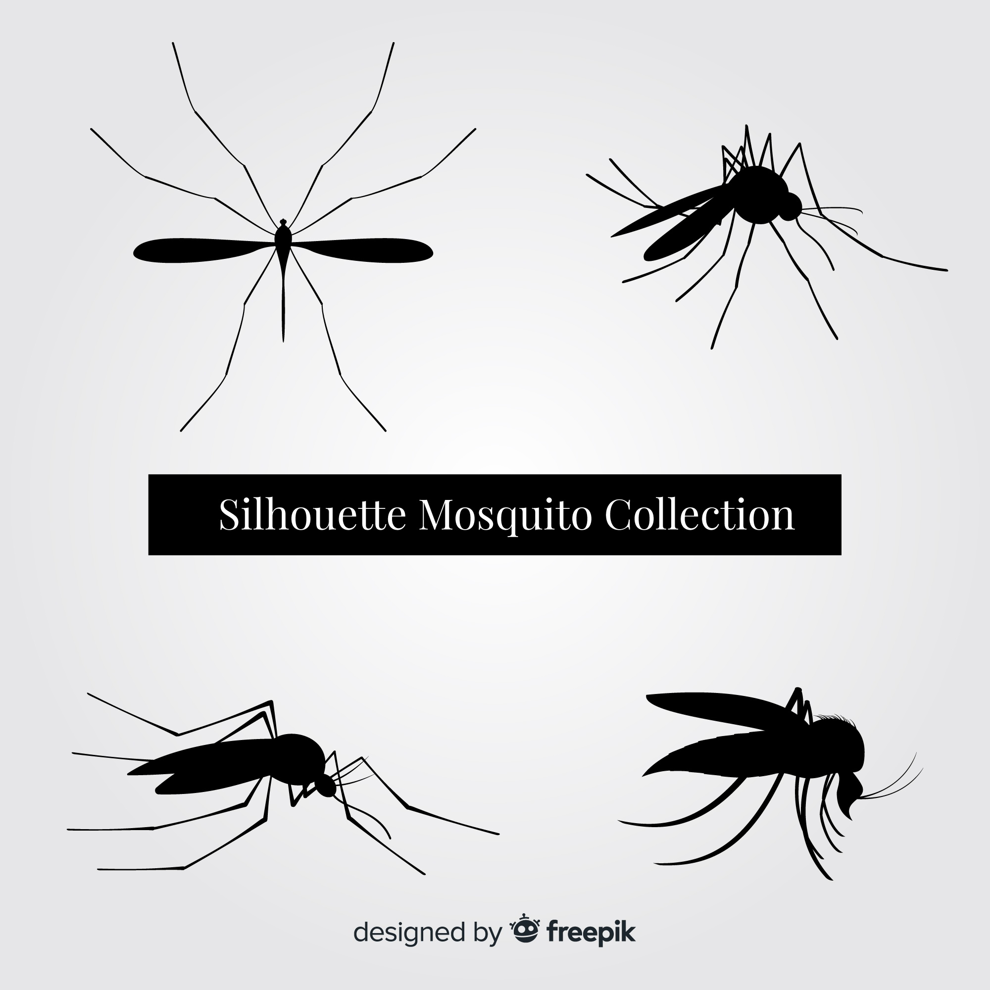 Mosquito silhouette pack