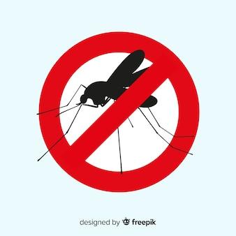 평면 디자인으로 모기 경고 표시