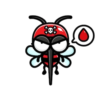 Mosquitoes looking for blood illustration