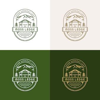 Moss ledge monolineロゴ