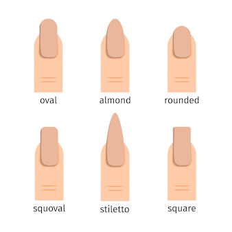 Most popular nail shapes with nude manicure