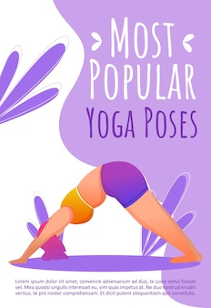 Most popular yoga poses template. healthy lifestyle.