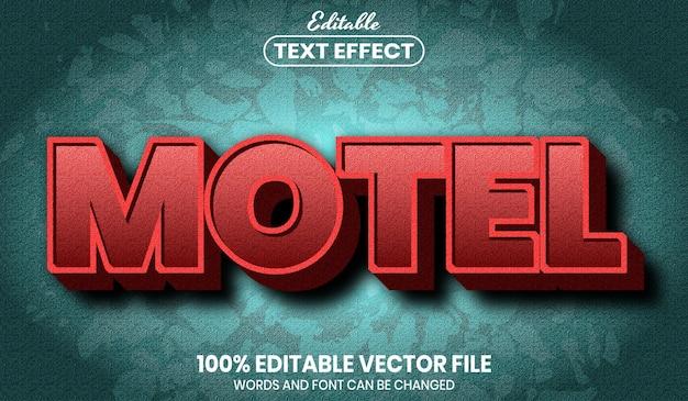 Текст мотеля, редактируемый текстовый эффект стиля шрифта