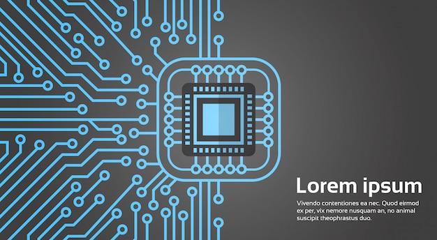 Компьютерная микросхема moterboard network data center концепция системы баннер