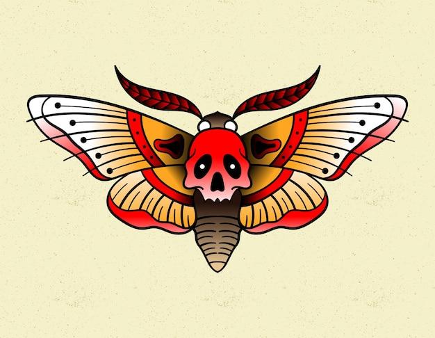 Moth tattoo traditional