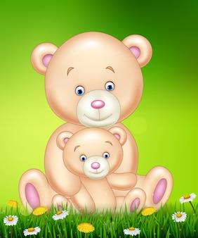 母と赤ちゃんは漫画を熊