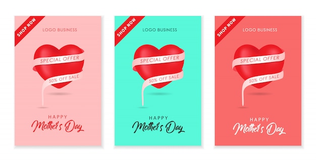 Mother day background design