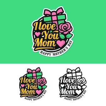 Mother day badge sticker