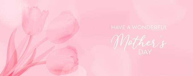 Mother day greeting card. vector floral spring background. realistic tulip flowers design for mom. woman 8 march international day card illustration. holiday banner template, invitation, brochure