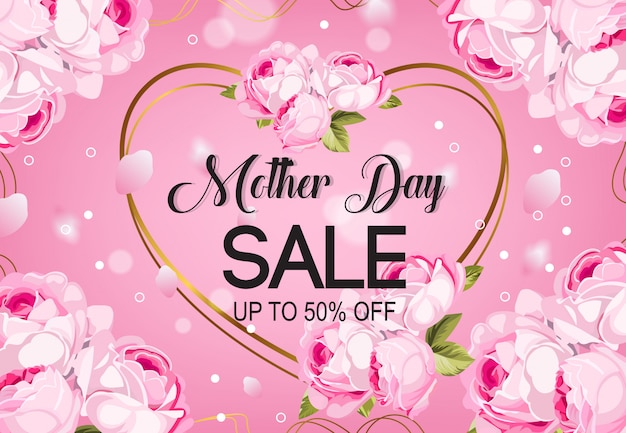 Mother day sale background vector