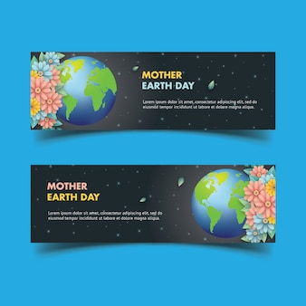 Mother eart day banner