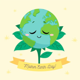 Мать земля день фон рисованной