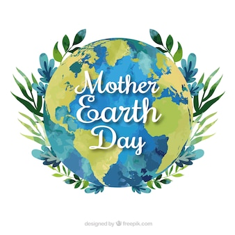 Mother earth day background in flat design