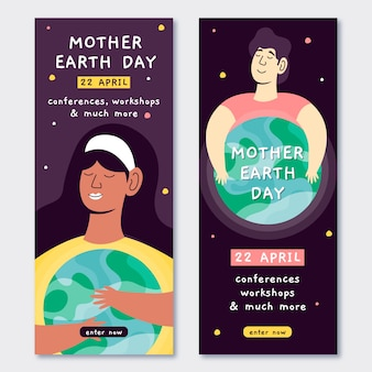 Mother earth day banner
