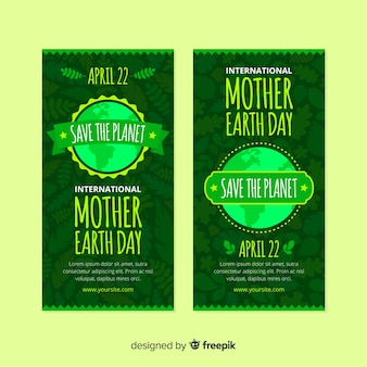 Mother earth day banners