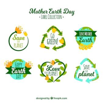 世界と母の日のラベルのコレクション
