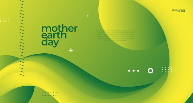 Mother earth day poster