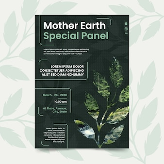 Mother earth day template