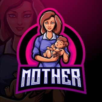 Mother esport mascot logo template