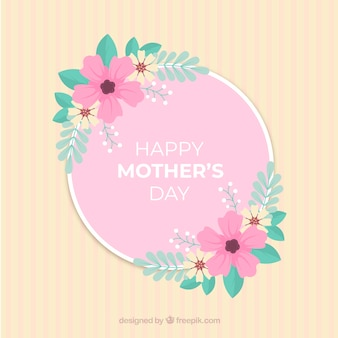 화려한 꽃과 어머니의 y 배경
