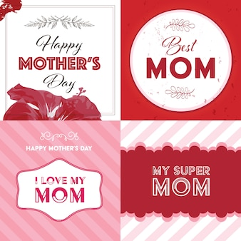 Mother's day background collection