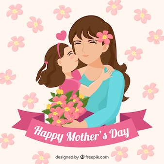 Mother's day background in flat design