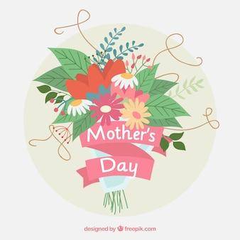 День матери фон с букетом