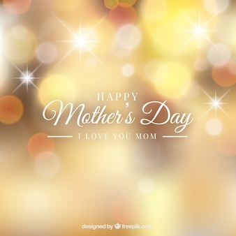 Mother's day background with blurred effect