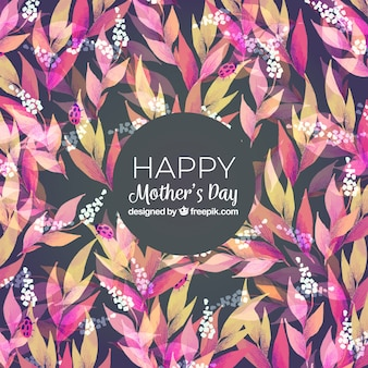 Mother's day background with colorful flowers