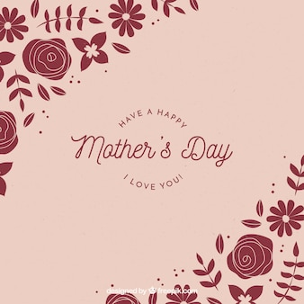 Mother's day background with flowers