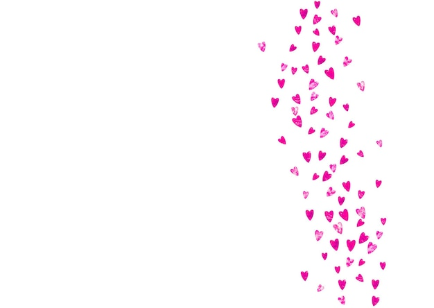 Mother's day background with pink glitter confetti. isolated heart symbol in rose color. postcard for mother's day. love theme for special business offer, banner, flyer. women holiday template