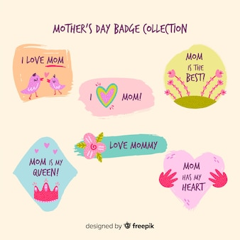 Mother's day badge collection