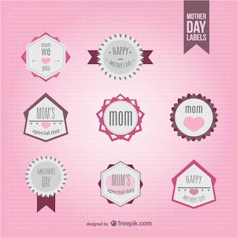 Mother's day badges collection
