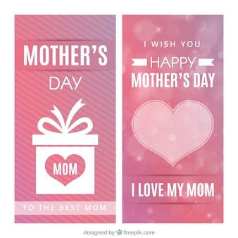 心とギフトと母の日バナー