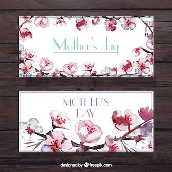 예쁜 꽃과 어머니의 날 배너