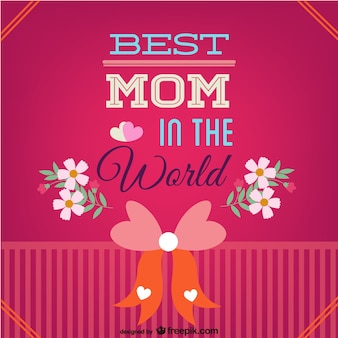 Mother's day best mom card