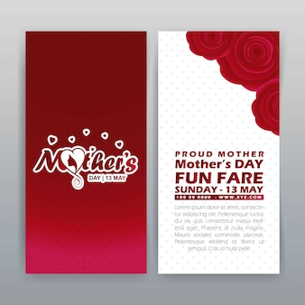 Mother's day brochure with red theme