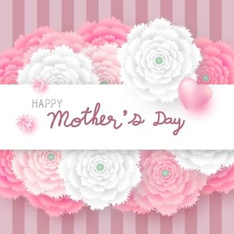 花の母の日のカードのコンセプト Premiumベクター