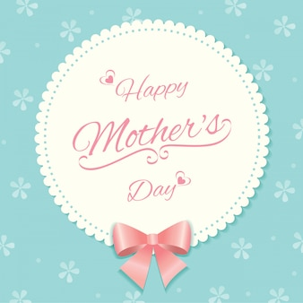 Mother's day card floral pattern