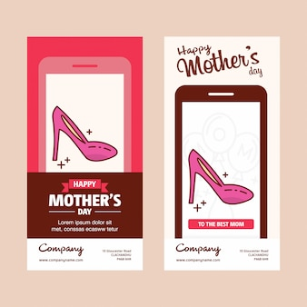 Mother's day card with scandal logo and pink theme vector