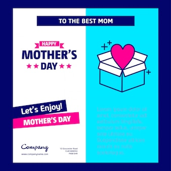 Mother's day card withblue theme and creative design vector