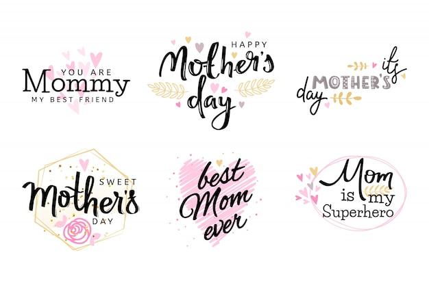День матери коллекция. Premium векторы