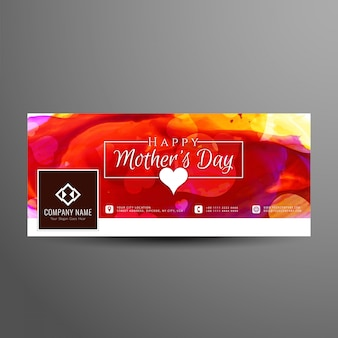 Mother's day colorful facebook cover design