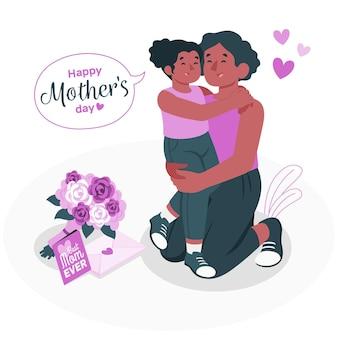Illustrazione di concetto di festa della mamma