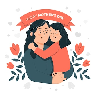 Mother's day concept illustration